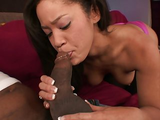 Blasian Anacreontic Jayla Starr Blowing And Fu - black mamba