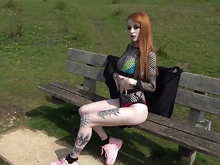Red haired tattooed hooker Azura Alii gets her anus rammed and stretched