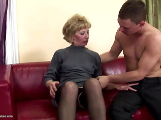 Perishable full-grown mom ass fucked coupled with pissed beyond everything