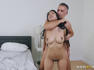 After a blowjob Jade Kush got her tight pussy fucked overhead eradicate affect bed