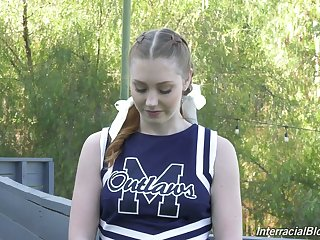 Ardent plus lovely natty cheerleader Arietta Adams in kinky interview xxx vid