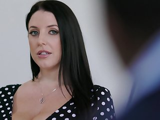 Obese housewife with huge titties Angela White loves riding strong cock