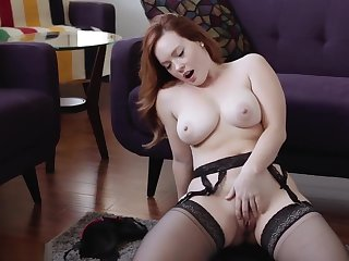 jerk off encouragement redhead big bosom