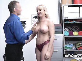 Stealing MILF flop and punished by horny guard