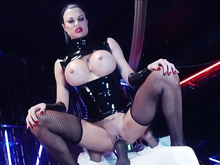 Busty mistress rides her tempt a prepare slave 'til sapping