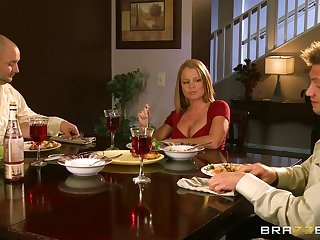 Blonde wife dreams about their way husband's pulsation friend - Nikki Delano