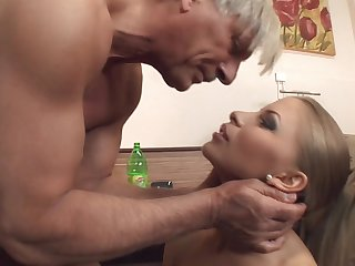 Anal loving wife Avril Sun in fishnet stockings fucked balls bottomless gulf