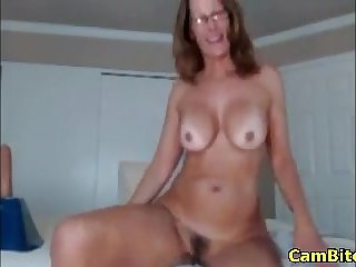 Hot milf just about big ass riding a dildo on webcam stay