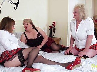 OldNannY Twosome Lesbian British Mature Porn Actresses