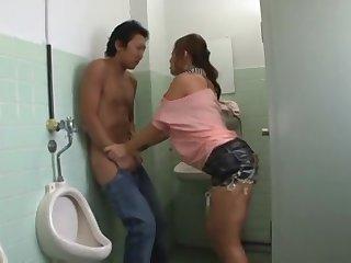 Sex In The Bathroom - stroking