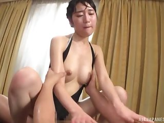 Hardcore gangbang bonking with Japanese wife Fujie Shiho in lingerie