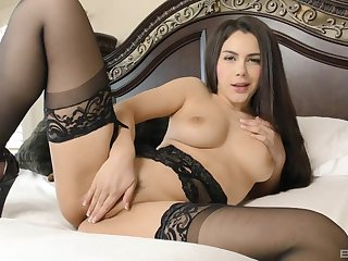 Horny slut Valentina Nappi gives a rimjob plus gets fucked