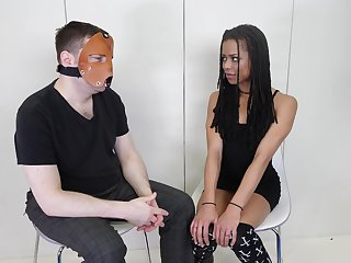 Masked dude asks and Kira Noir answers. Behind the scenes