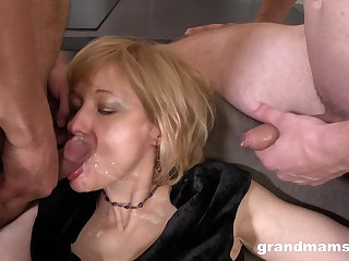 Dishonest mature fucked detach from behind to the fullest extent a finally she penetrates another mendicant