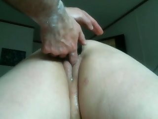 My wife loves anal fisting and she loves it in a beeline I fuck with her sex toys
