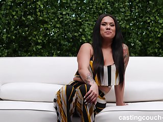 Hardcore fucking in missionary and doggystyle with chubby Alexis