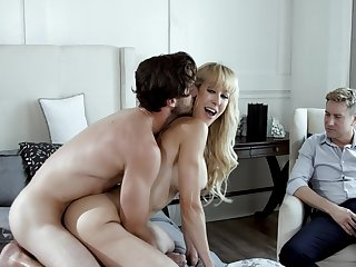 MILF works another man's cock in perfect cuckold