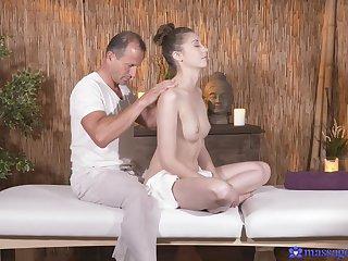 Insipid fucking on the massage bed with nice tits Meggie Loki
