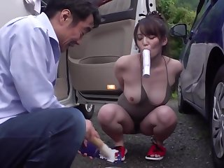 GZAP-022 Hedge in And Secure A Secret Aphrodisiac Vibe To A No Bra Become man Washing In The Neighborhood! ! Measurement Being Restrained Outdoors, The Yam Aphrodisiac Swells And The Agony Cum Ji ○ Begging!