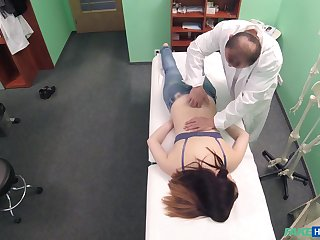 Young patient feels perfect while creature fucked and jizzed