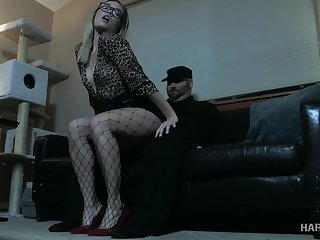 Festival fro glasses Katie Kush gets punished fro chum around with annoy dark BDSM room