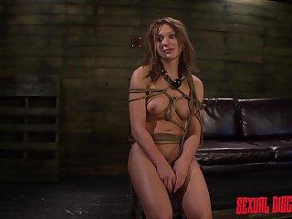 Callie Calypso anal bondage sex - brunette, fetish, footjob