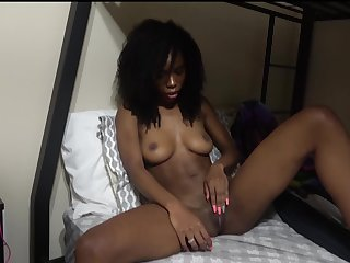 Bootyful black hottie Bambino is actually good at seat of government dick