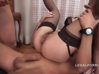 Alice Ricci Hardcore Airtight Dp & Three Facials Nr265