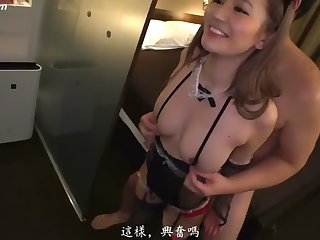 Japanese Report Doggy with Sexy Lingerie