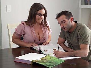Its Hard To Stay Focus When You Got A Busty Teacher - Natasha Nice