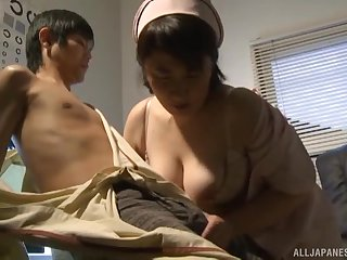 Asian nurse masturbates together with gets caught by a horny turns out that