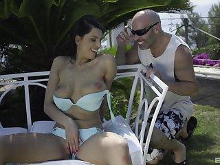 Big natural tits, Big pussy, Big tits, Brunette, Cum, Cumshot, Facial, Latina, Milf, Outdoor, Pornstar, Wife,