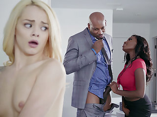 Housewife and soft-pedal with BIG Sulky COCK poke nubile blondie